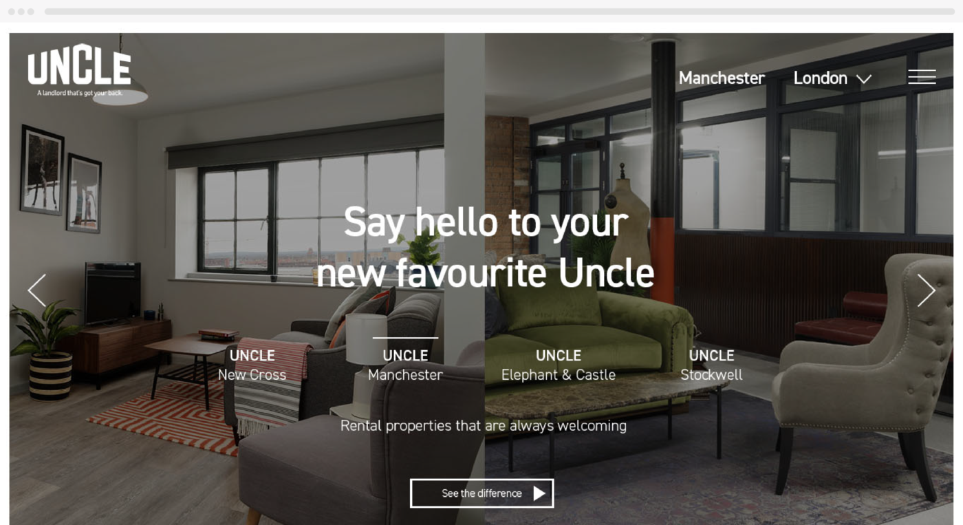 Revised Uncle site design