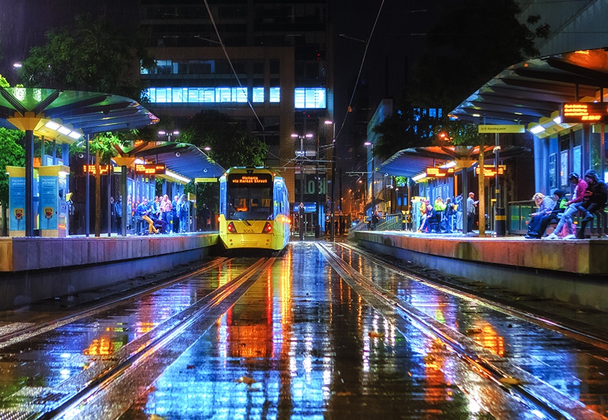 Manchester in the rain - by Andrew Aitch - Challenger brand for Photography Business