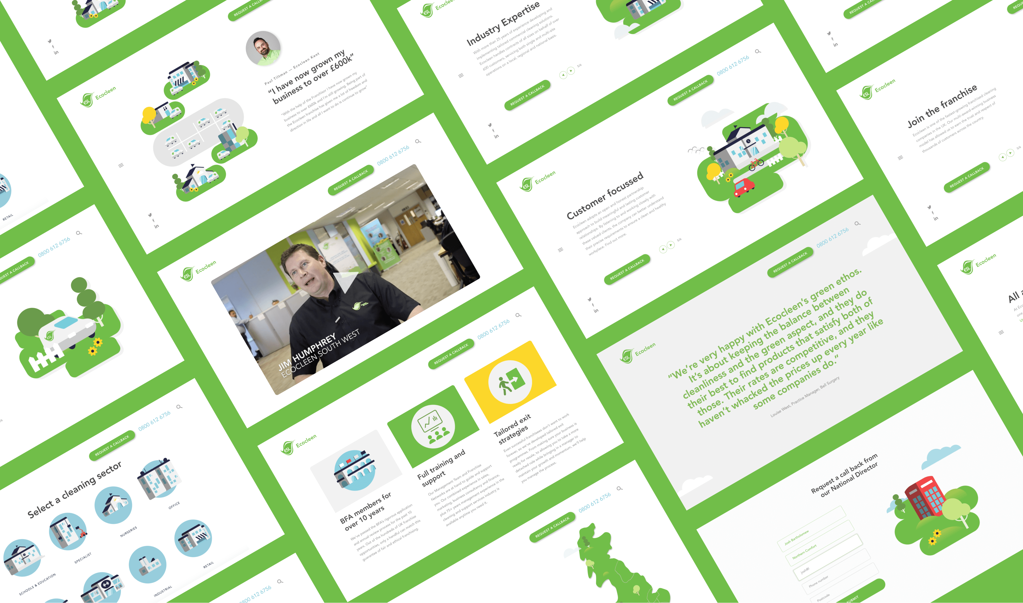 Ecocleen Website - Challenger brand for Cleaning Business