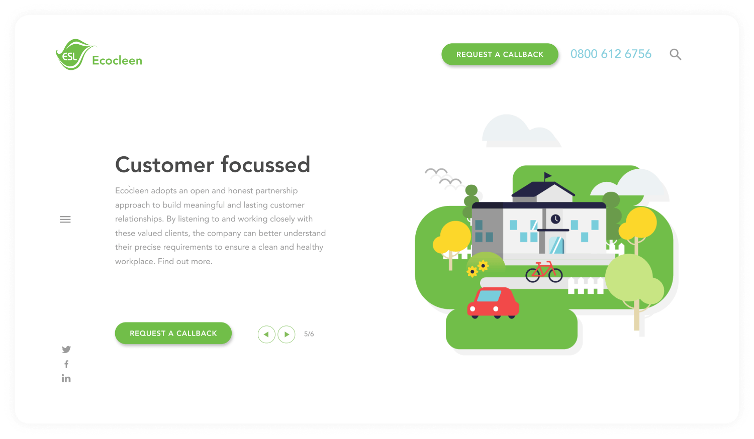 Ecocleen Website - Challenger brand for Cleaning Business - Custom animations