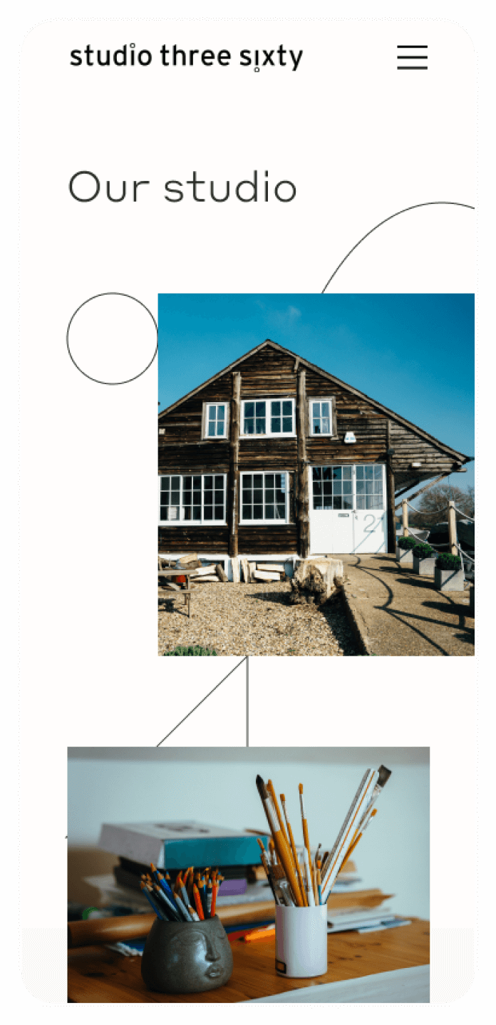 mobile home page for CRO website project