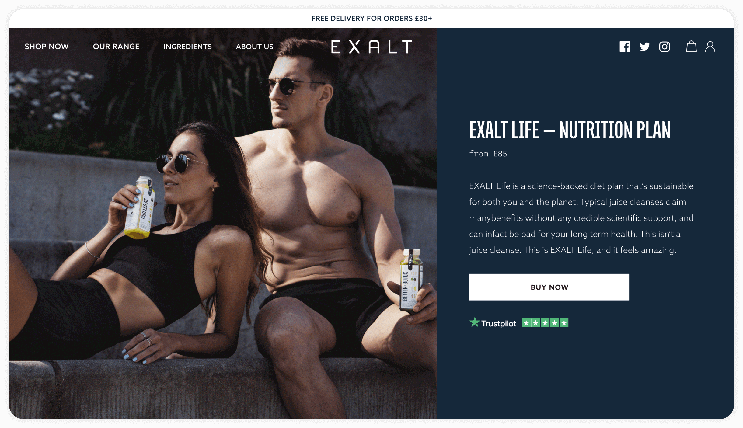100% increase in conversions for our lifestyle brand client Exalt